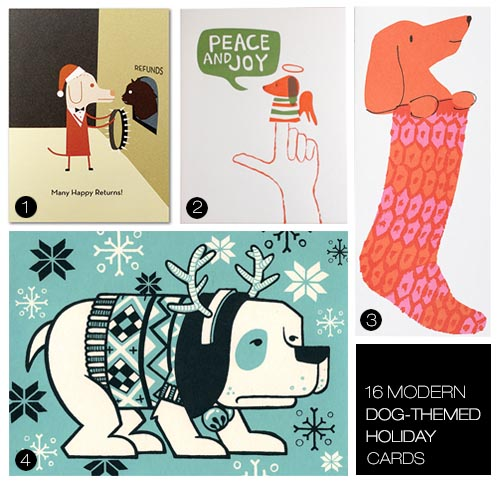 16 Modern Dog-Themed Holiday Greeting Cards