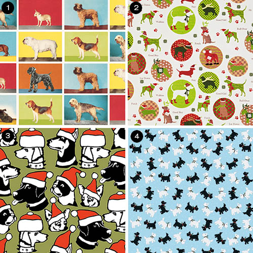 12 Modern Holiday Wrapping Papers and Gift Tags for Dog Lovers