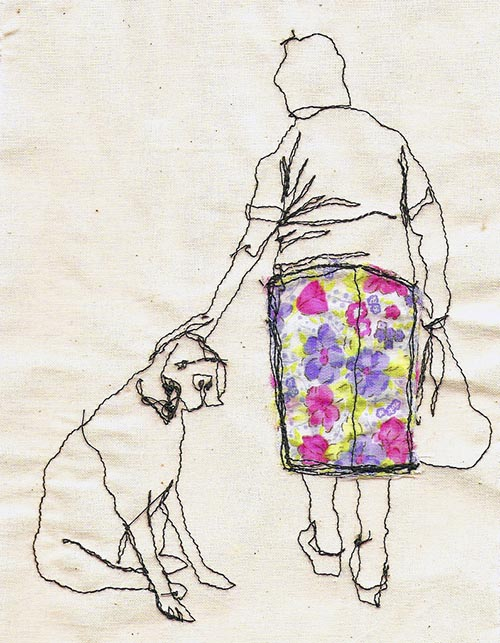 Spotted: Dog-Themed Embroidery by Sarah Walton