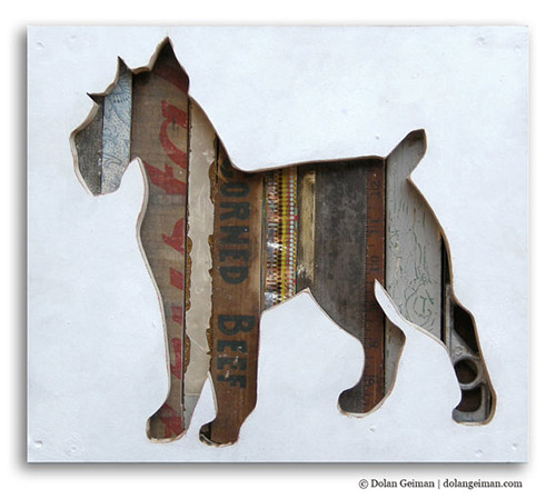 Reclaimed Wood Dog Art by Dolan Geiman