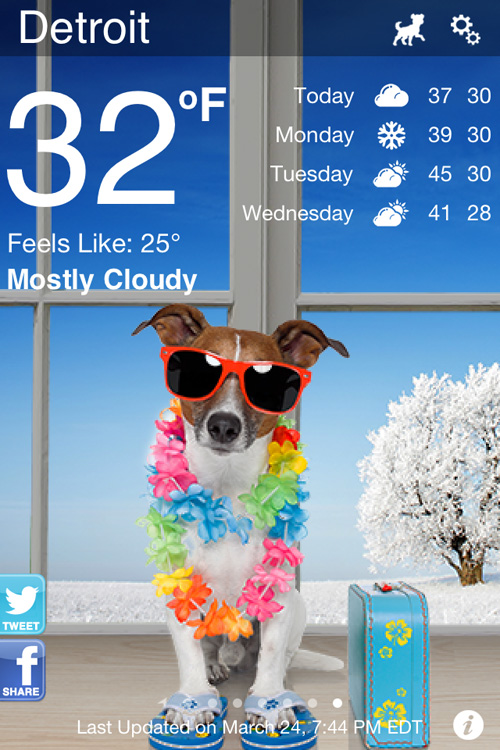 Weather Puppy Free Iphone Weather App