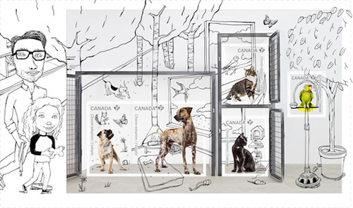 Adopta a Pet Postage Stamps from Canada Post