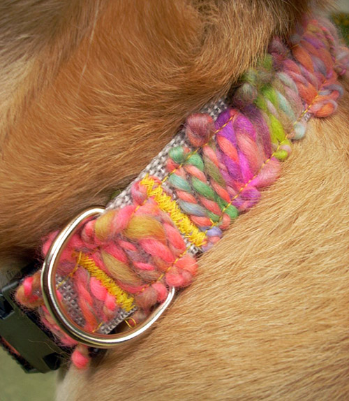 Dog-I-Y: Easy DIY Yarn Applique Dog Collar