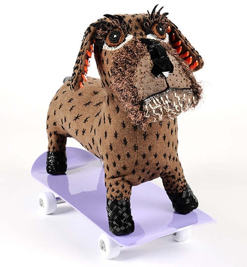 The Modern Dog: 3D Textile Dog Sculptures by Tabitha Cottrell