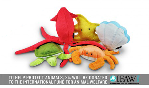 Under the Sea Plush Dog Toy Collection from P.L.A.Y.