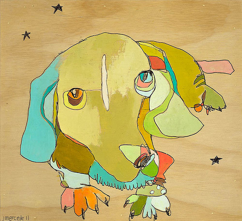 Colorful Dog Paintings by Jennifer Mercede