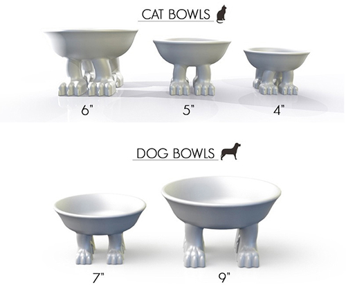 Four-Pawed Pet Bowls by Dylan Kendall