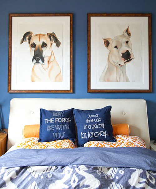 Spotted: Dog Art in a Modern California Home