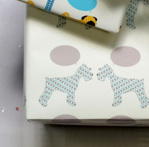 Modern Dog-Themed Wrapping Paper from RiverDogPrints
