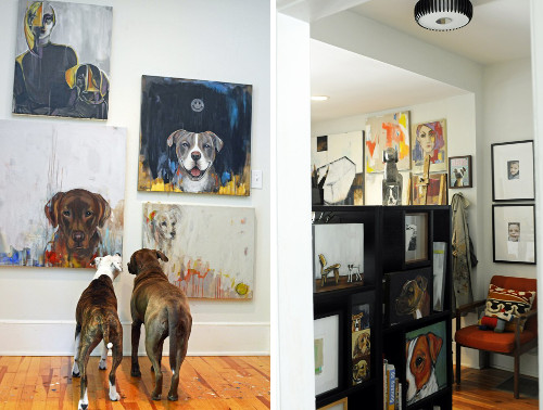 Spotted: A Modern Art (and Dog) Filled Home