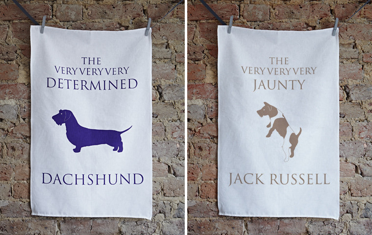 Dog Breed Tea Towels by Bottle Green Homes