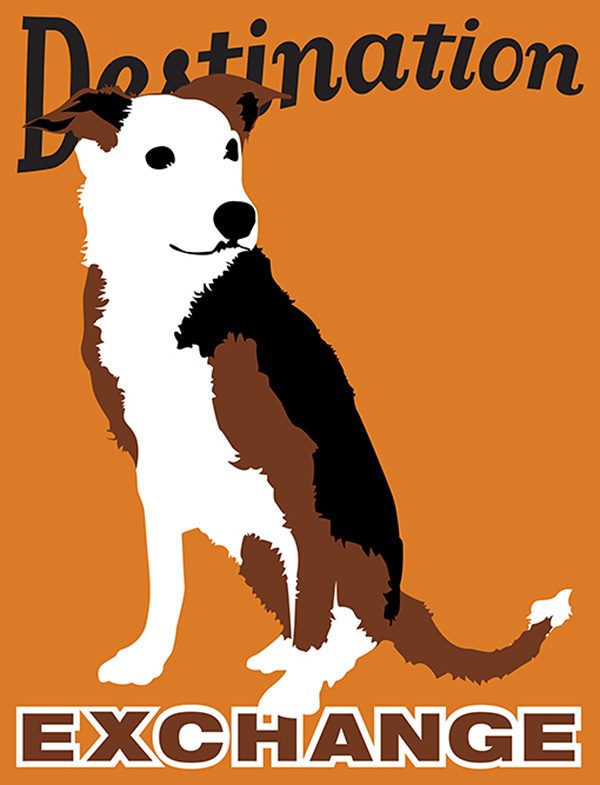Plakatstil-Style Dog Breed Posters from The Gruff Sir