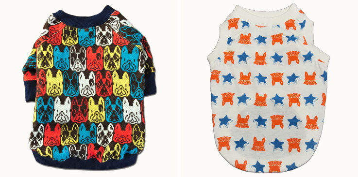 Dog Sweaters and T-Shirts by Frenchiewear