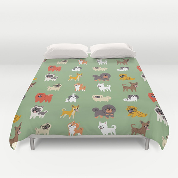 Dog Duvet Covers by Lili Chin