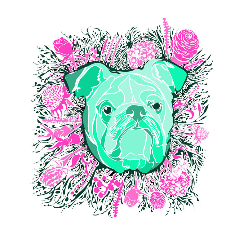 Custom Dog Portraits and Illustrated Art Prints by Dottie Dog