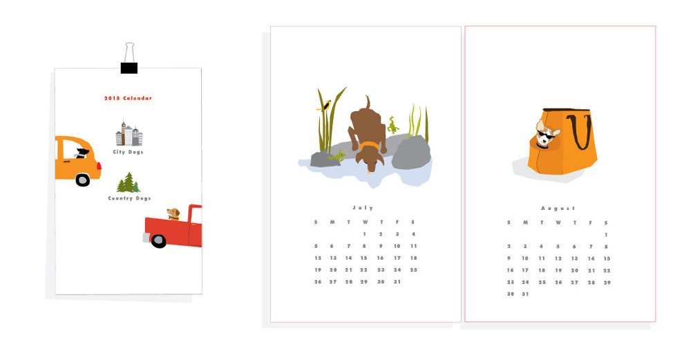 15 Awesome Illustrated Dog Calendars for 2015