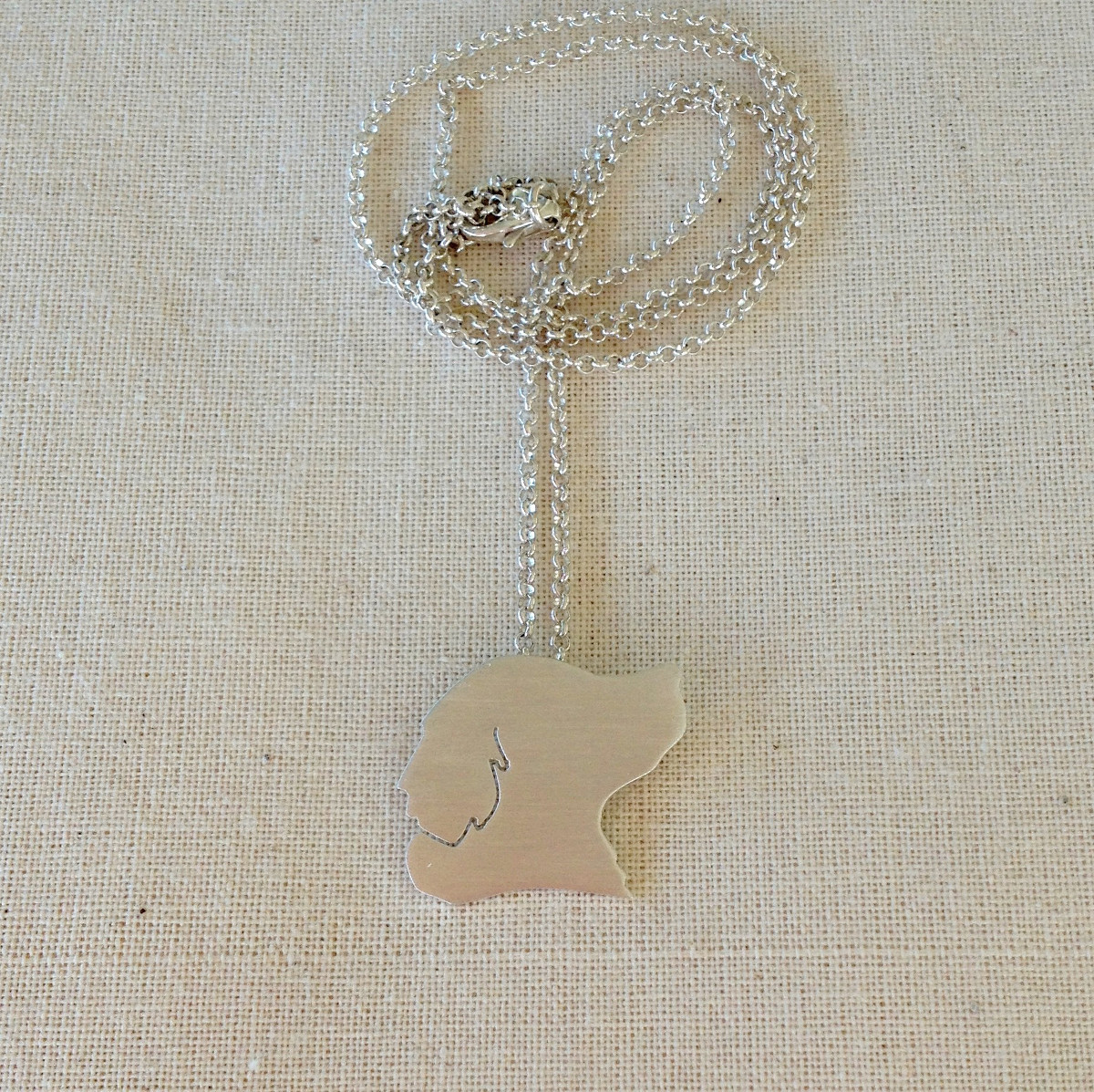 Custom Pet Silhouette Charm Necklaces by Moni & Dog
