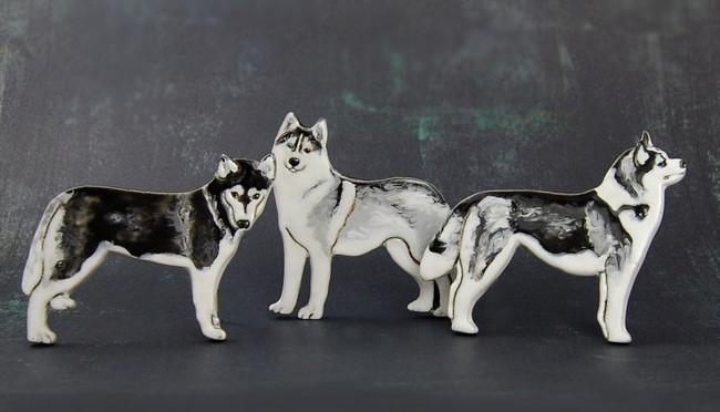 Ceramic Dog Jewelry by DORCA