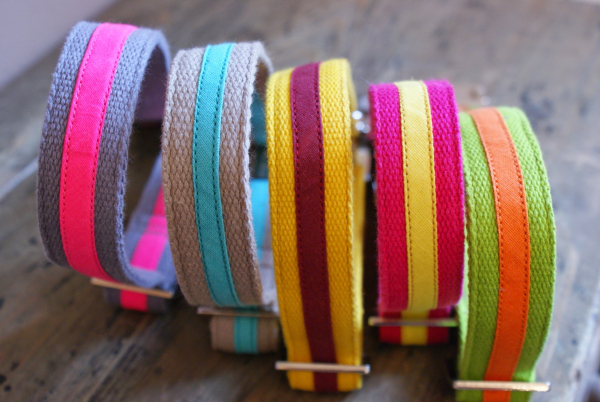 Colorful Handmade Dog Collars and Leashes from Prunkhund