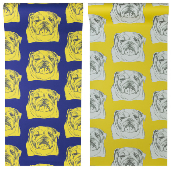 Dog-Patterned Wallpaper from Graduate Collection