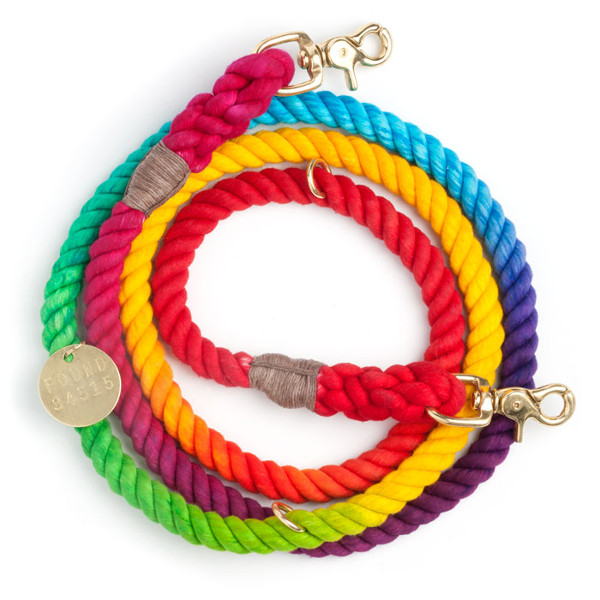 Prismatic Rope Dog Collar and Leash from Found My Animal