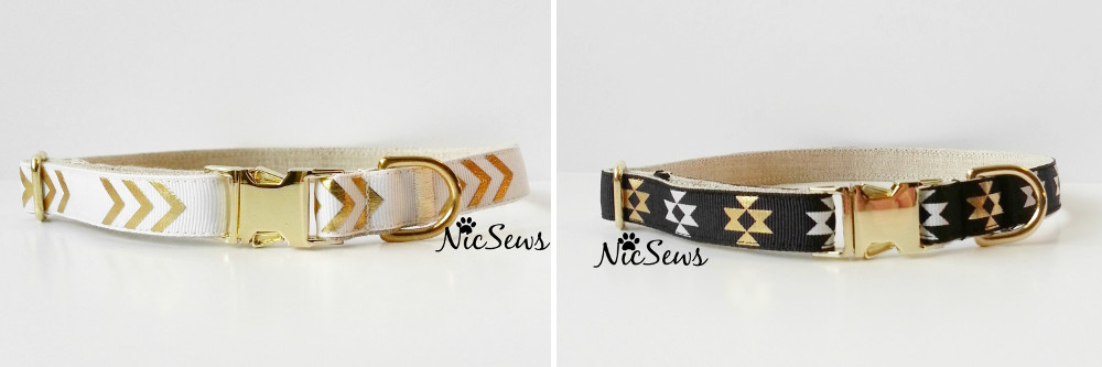 Tribal-Inspired Geo Dog Collars from Nicole Kristoff