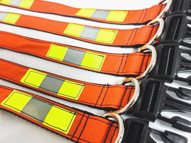 Upcycled Firefighter Dog Collars from Rekindled Pride