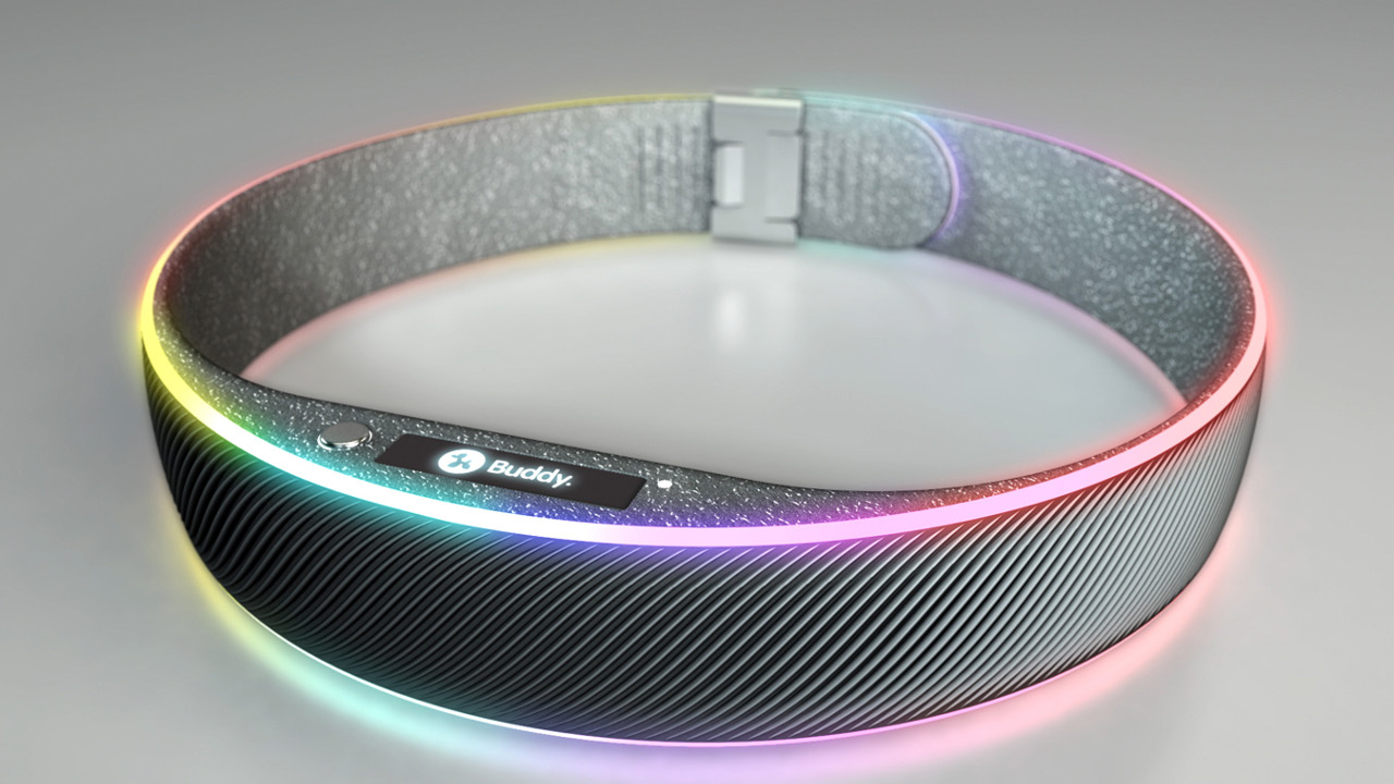 Buddy: An LED, GPS-Enabled SmartCollar from Squeaker