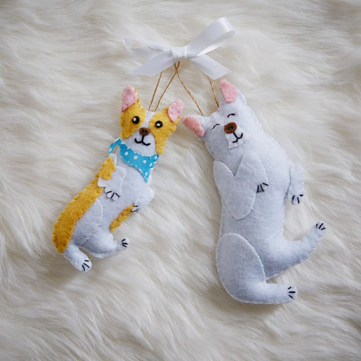West Elm x ASPCA Felt Animal Ornaments
