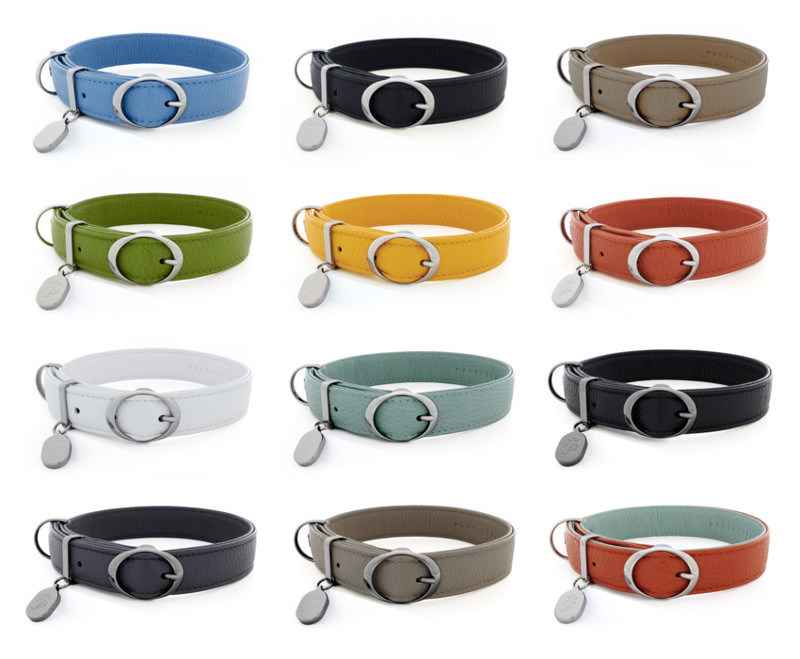 Luxury Italian Leather Dog Collars from Pantofola