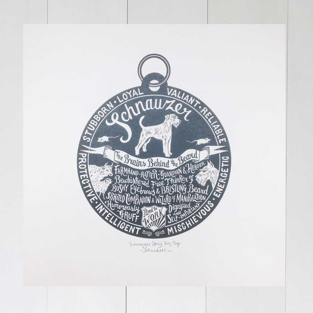 Hand-Lettered Dog Breed Prints by Debbie Kendall