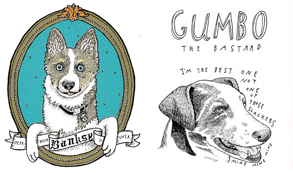 Custom Illustrations and Pet Portraits by Laura Hartwick