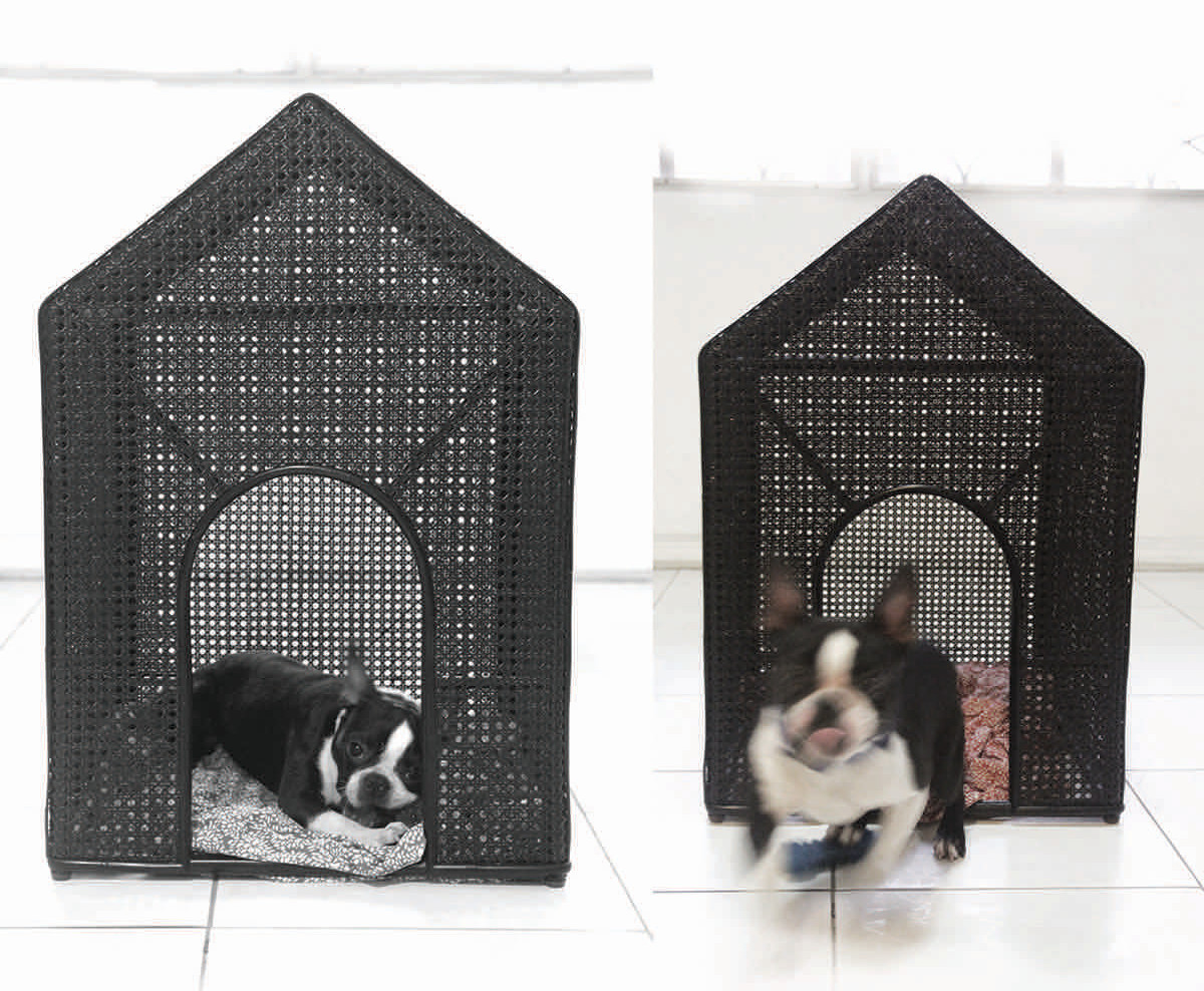 Rattan Dog Houses Designed by Patricia Eustaquio for E. Murio