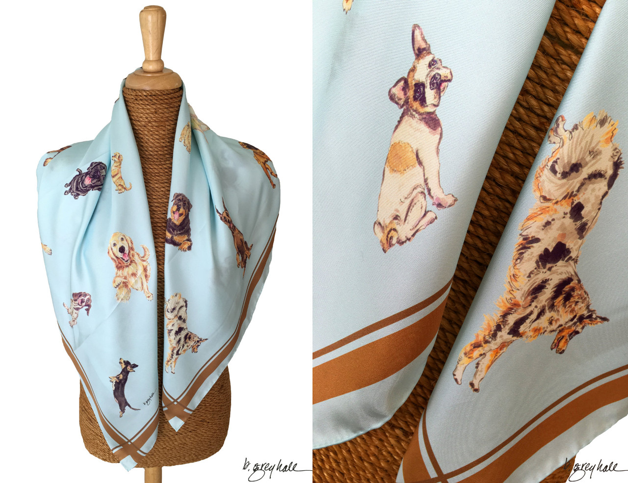 Silk Scarves from Grey Hall Design