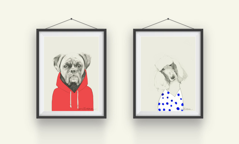 Modern Dog-Themed Wall Art from Fifi + Pascale