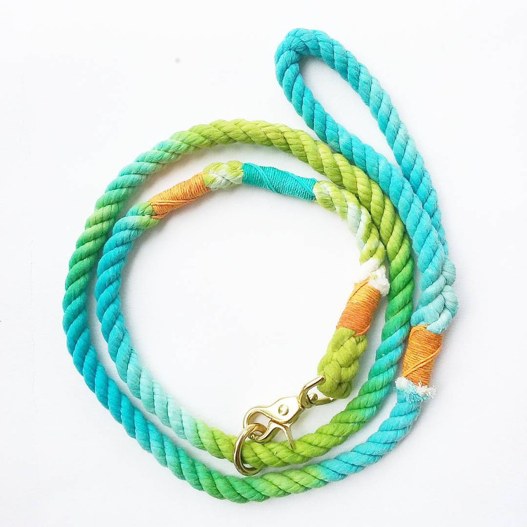 Colorful, Organic Rope Leashes from Haus of Hound