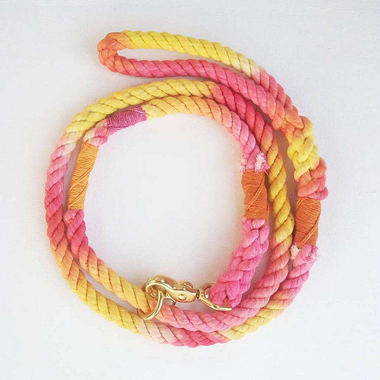 Colorful, Organic Rope Leashes from Haus of HoundColorful, Organic Rope Leashes from Haus of Hound