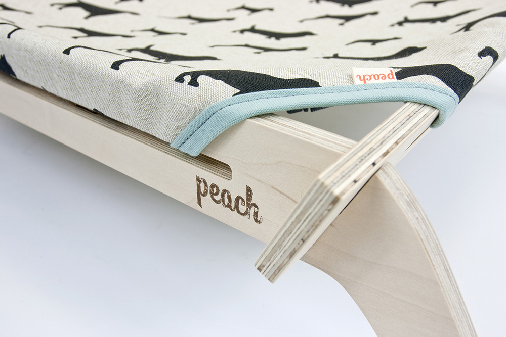 Peach-Pet-Provisions-modern-cat-dog-lounger-detail