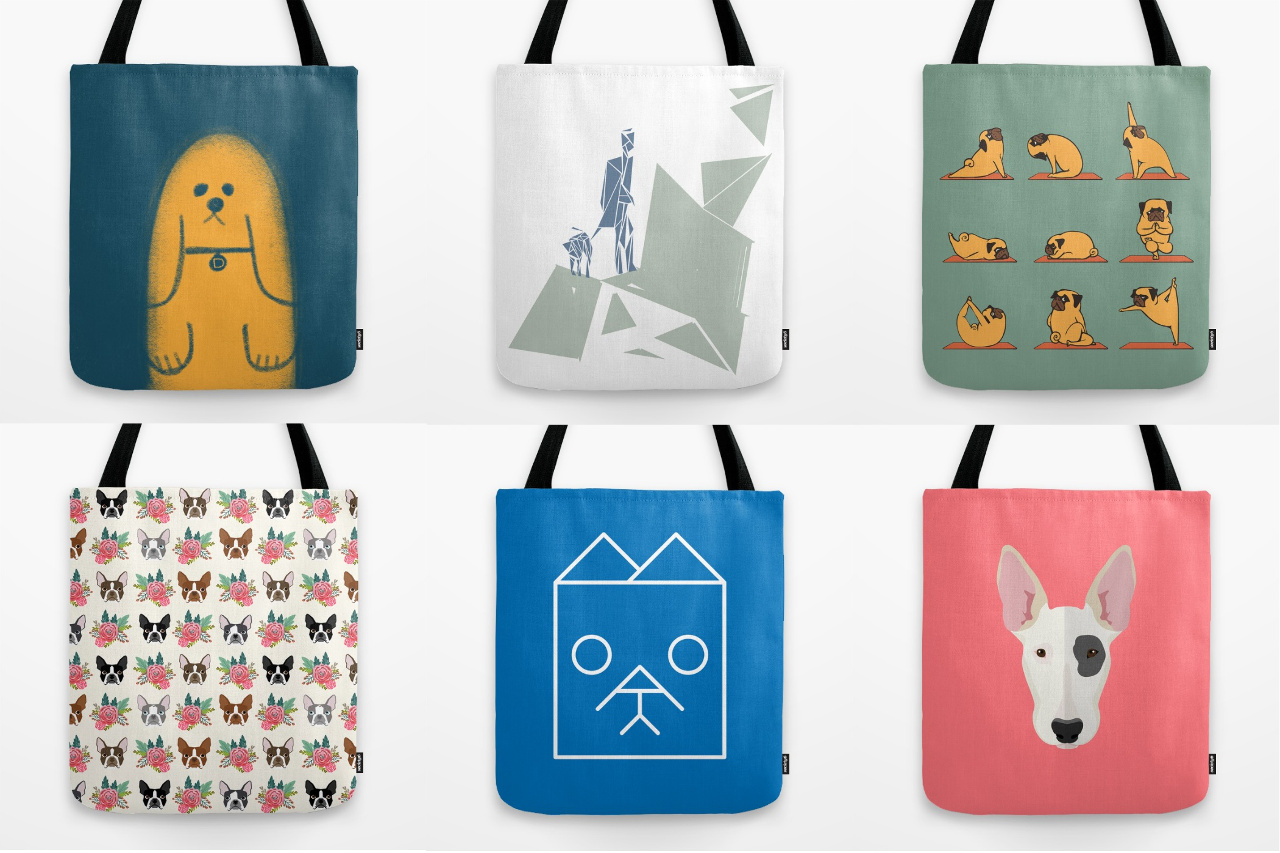 24 Awesome Dog Tote Bags from Society6