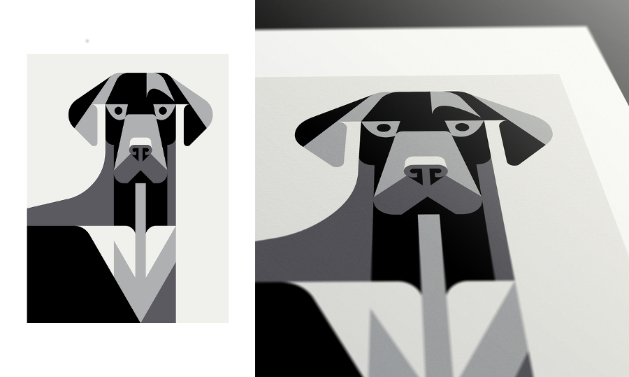 Minimalist Dog Breed Posters from Josh Brill