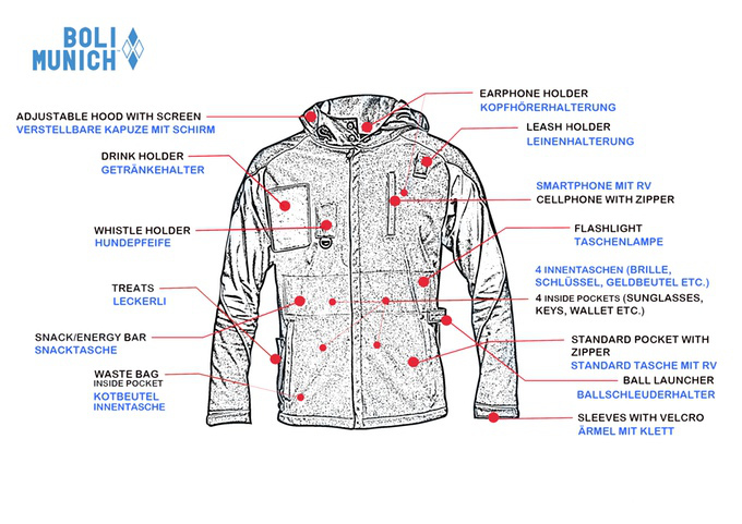 Boli Munich Jacket for Active Dog Owners