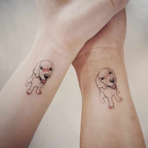 Dog Portrait Tattoos by Tattooist Doy