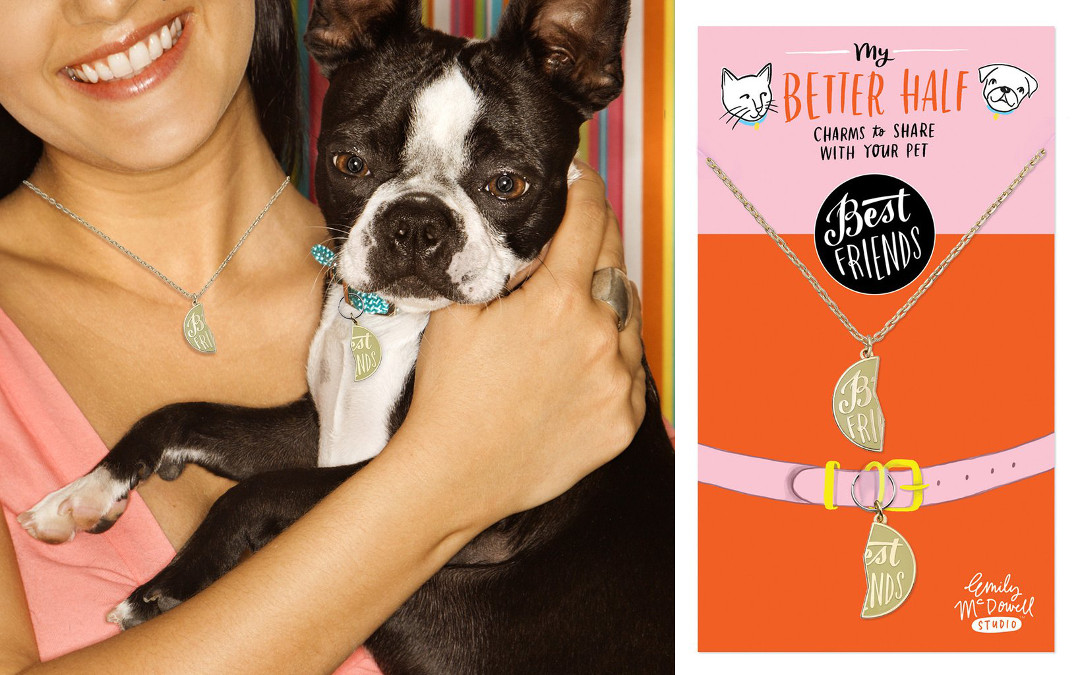 Better Half Pet Charms from Emily McDowell