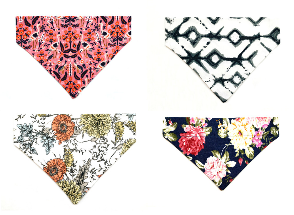 Modern Handcrafted Dog Bandanas from Howl + Hound