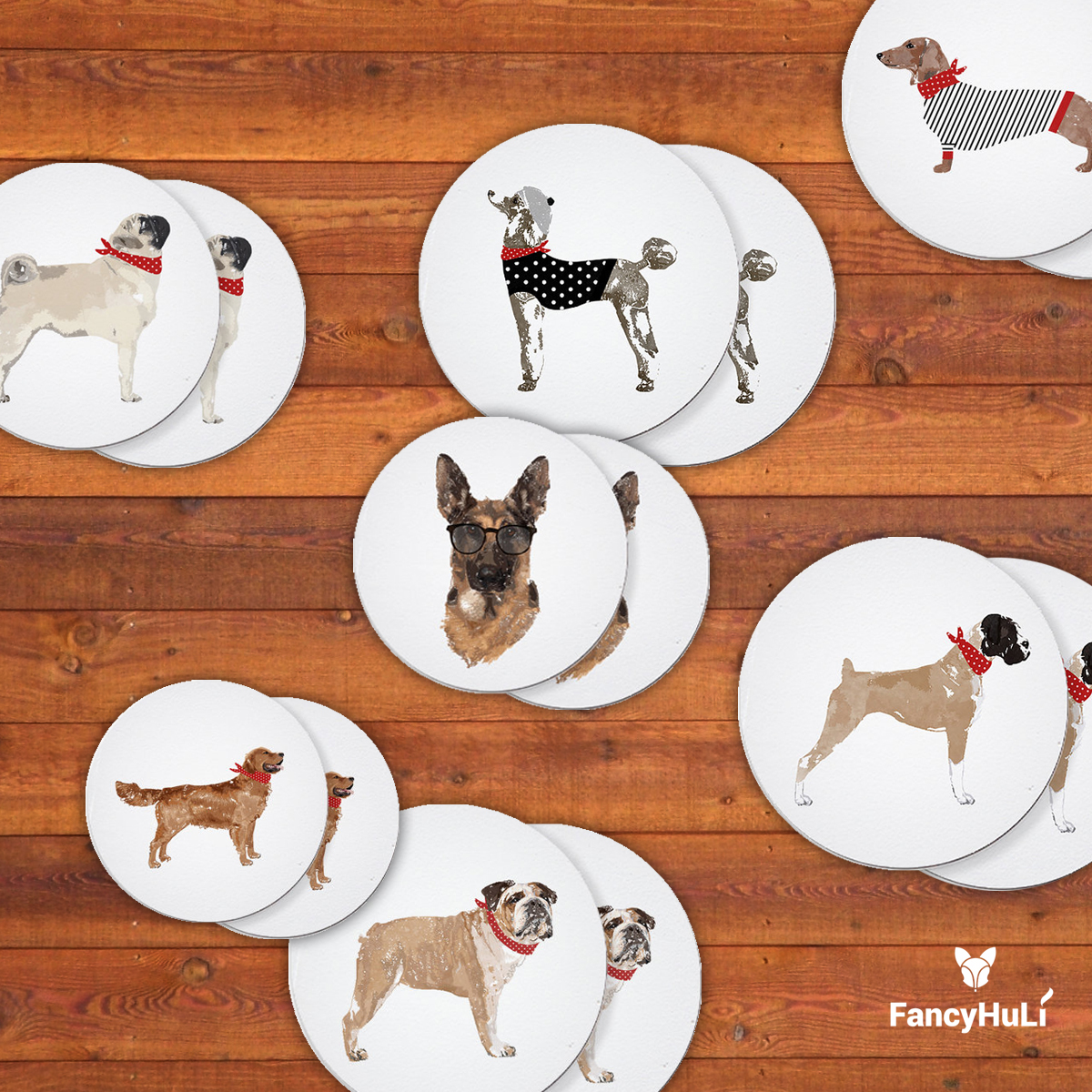 Modern Dog-Themed Gifts and Decor from Fancy HuLi