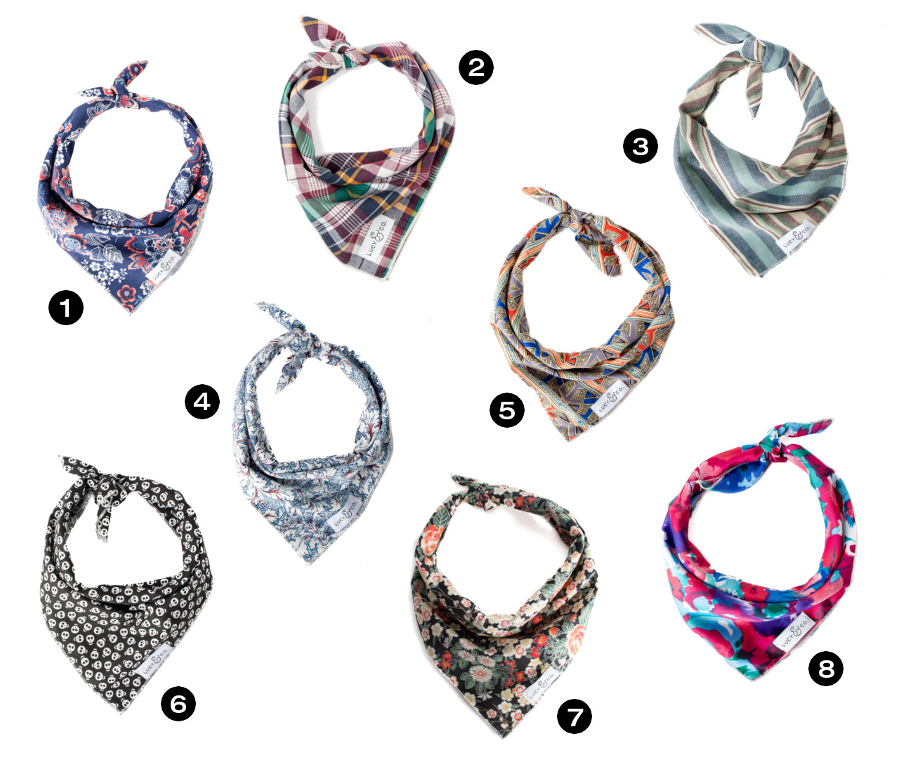 Dog Milk Holiday Gift Guide: Stylish & Festive Bandanas from Lucy & Co.