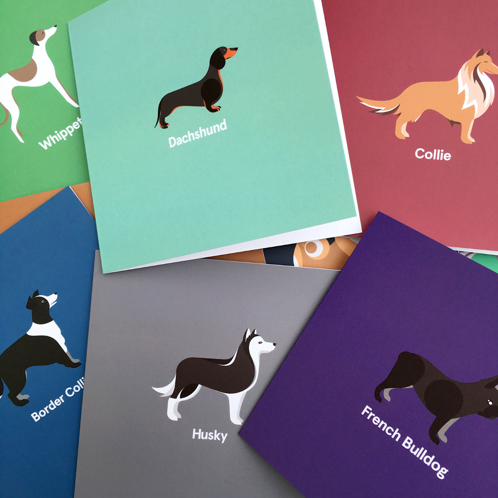 Modern Dog Breed Cushions, Totes, and Cards from Good Dog