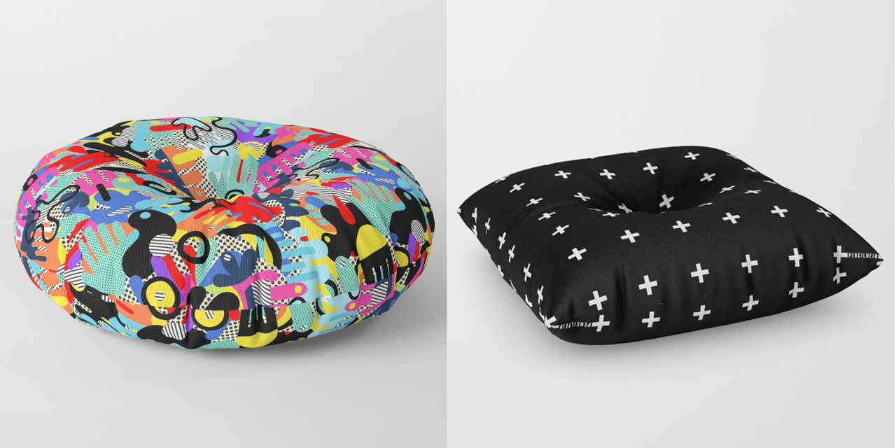 New from Society6: Floor Pillows