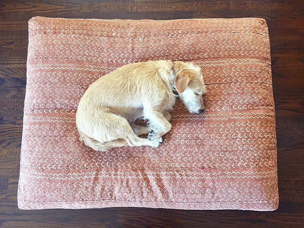 Mudcloth and Shibori Dog Beds from Backup Design