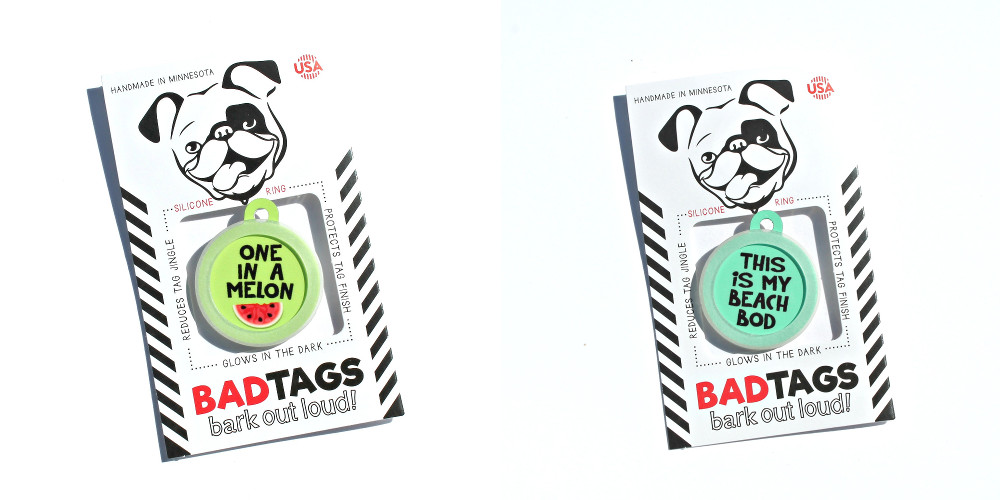 Glow-in-the-Dark Dog Tags from Bad Tags